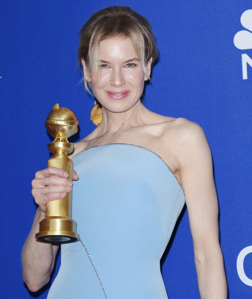 Renee Zellweger in the press room at the 77th Annual Golden Globe Awards at The Beverly Hilton Hotel on January 05, 2020 in Beverly Hills, California © Jill Johnson/jpistudios.com