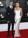 Anwar Hadid and Dua Lipa arrive at the 62nd Annual GRAMMY Awards held at Staples Center on January 26, 2020 in Los Angeles, California, United States.