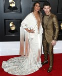 Priyanka Chopra and Nick Jonas arrive at the 62nd Annual GRAMMY Awards held at Staples Center on January 26, 2020 in Los Angeles, California, United States.