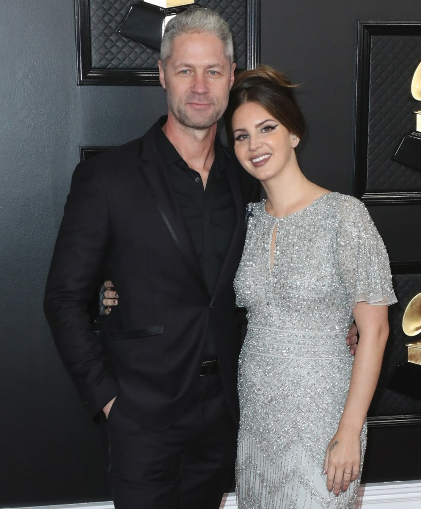 Sean Larkin and Lana Del Rey arrive at the 62nd Annual GRAMMY Awards held at Staples Center on January 26, 2020 in Los Angeles, California, United States.