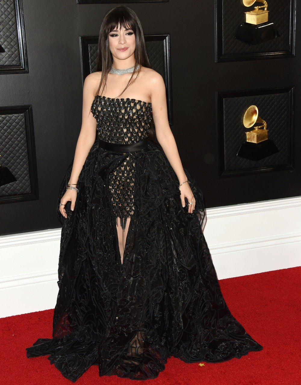 Camila Cabello arrives at the 62nd Annual GRAMMY Awards at Staples Center on January 26, 2020 in Los Angeles, California