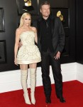 Gwen Stefani, Blake Shelton arrives at the 62nd Annual GRAMMY Awards at Staples Center on January 26, 2020 in Los Angeles, California