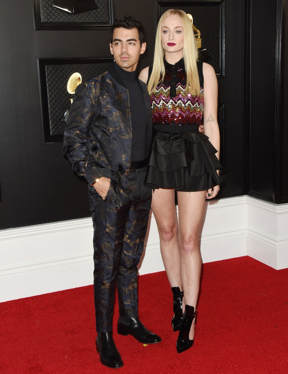 Joe Jonas, Sophie Turner arrives at the 62nd Annual GRAMMY Awards at Staples Center on January 26, 2020 in Los Angeles, California