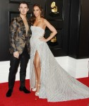 Kevin Jonas, Danielle Jonas arrives at the 62nd Annual GRAMMY Awards at Staples Center on January 26, 2020 in Los Angeles, California