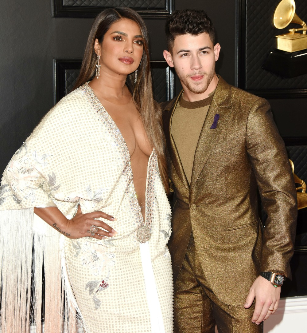 Priyanka Chopra, Nick Jonas arrives at the 62nd Annual GRAMMY Awards at Staples Center on January 26, 2020 in Los Angeles, California