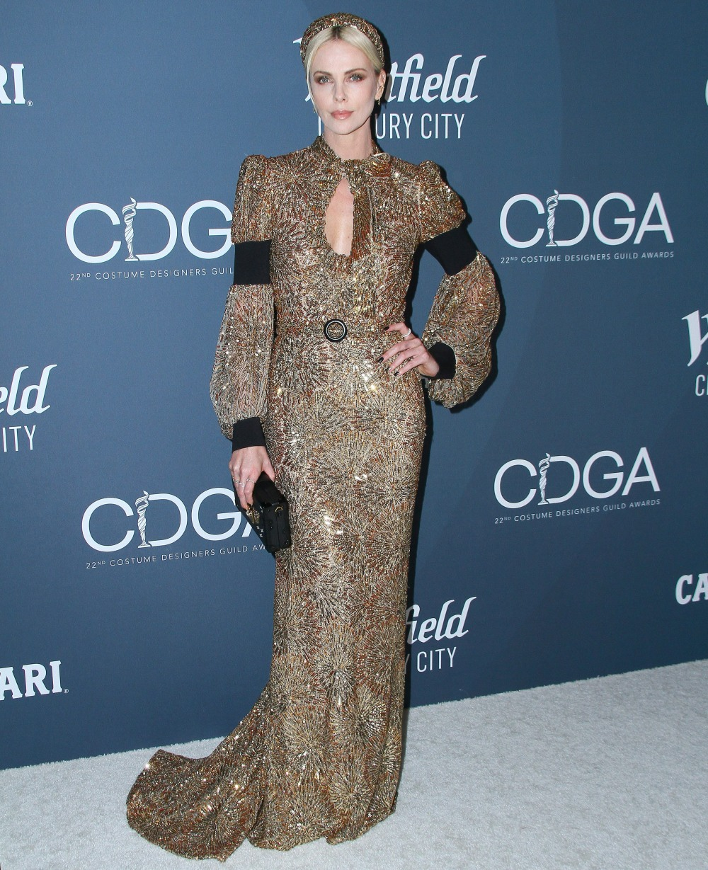 Charlize Theron attends  the 22nd Costume Designers Guild Awards in Los Angeles