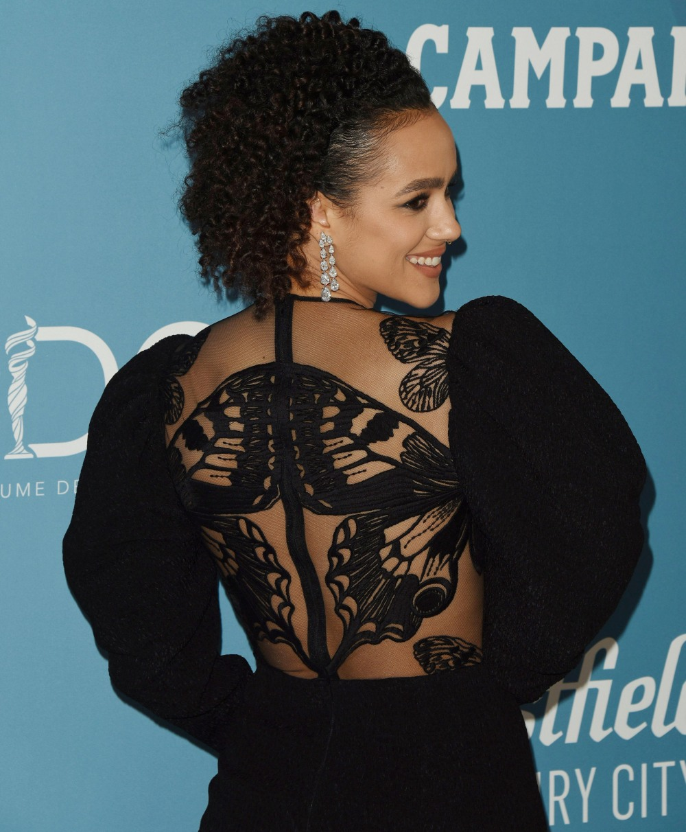 Nathalie Emmanuel attends the 22nd CDGA (Costume Designers Guild Awards) at The Beverly Hilton Hotel on January 28, 2020 in Beverly Hills, California© Jill Johnson/jpistudios.com