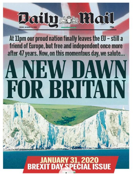 Le prime pagine del Regno Unito nel giorno BREXIT