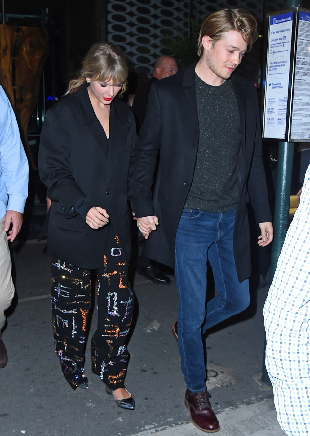 Taylor Swift and Joe Alwyn seen leaving the SNL After Party at Zuma