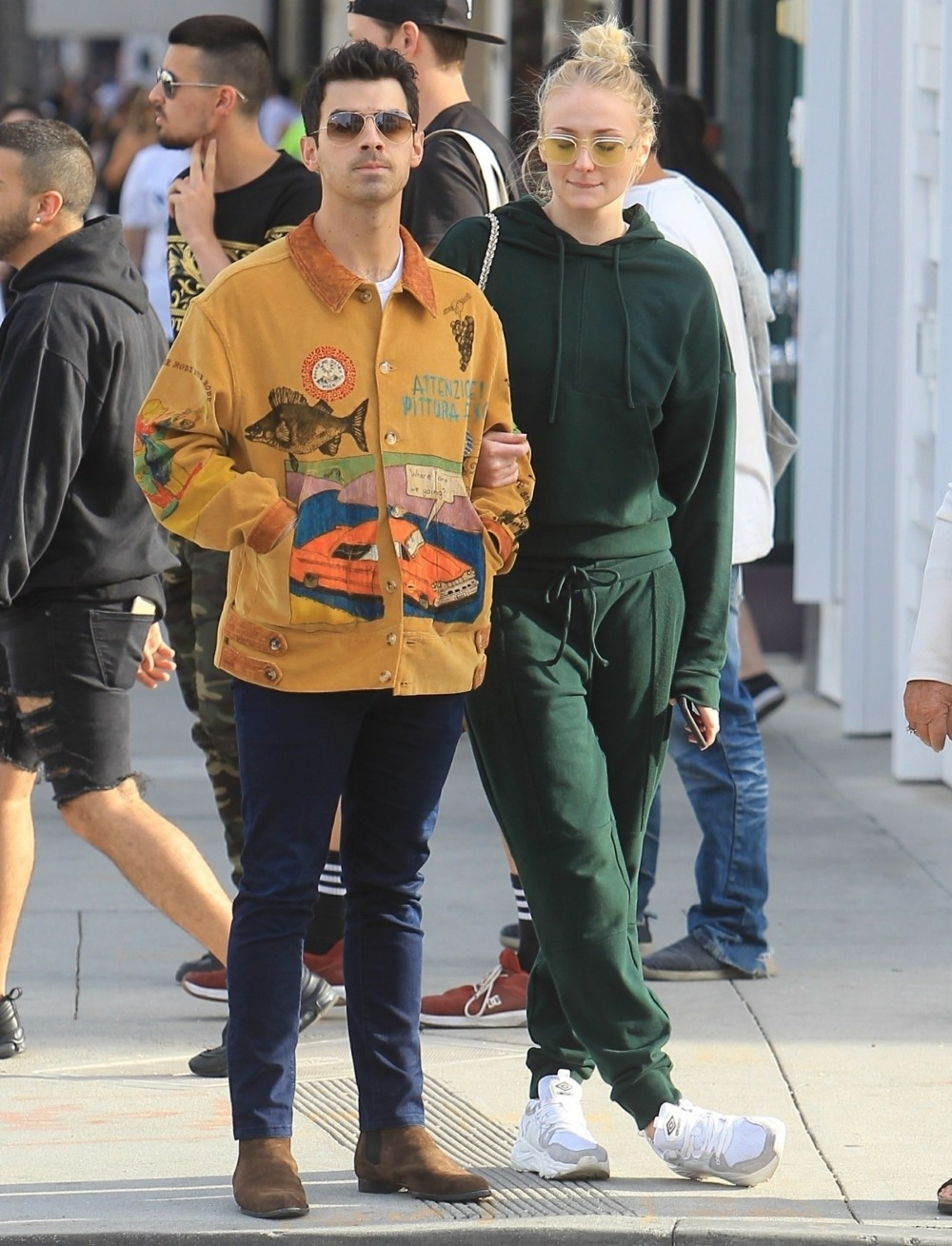 Sophie Turner and Joe Jonas hit up retailers after grabbing lunch in Beverly Hills