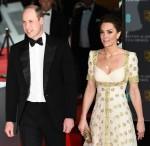 Il duca e la duchessa di Cambridge partecipano all'EE British Academy Film Awards 2020 a Londra