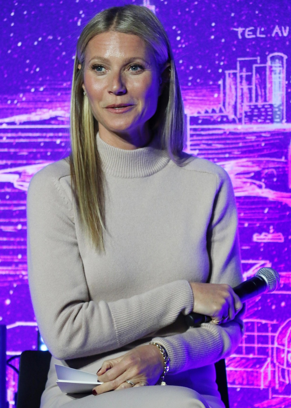 Gwyneth Paltrow at the Grand opening of the JVP International Cyber Center