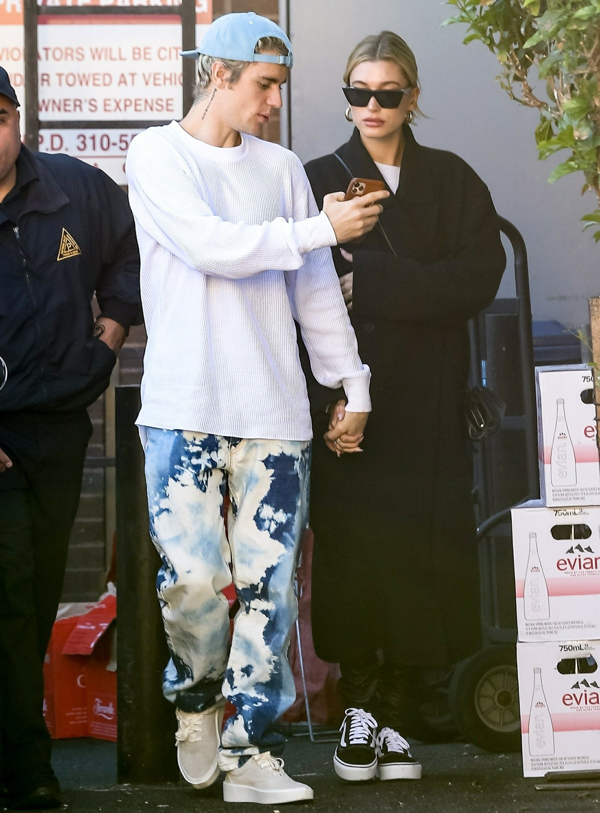 Justin Bieber holds hands with wife Hailey Bieber after a lunch date