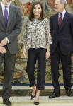 King Felipe and Queen Letizia attend Royal Audiences
