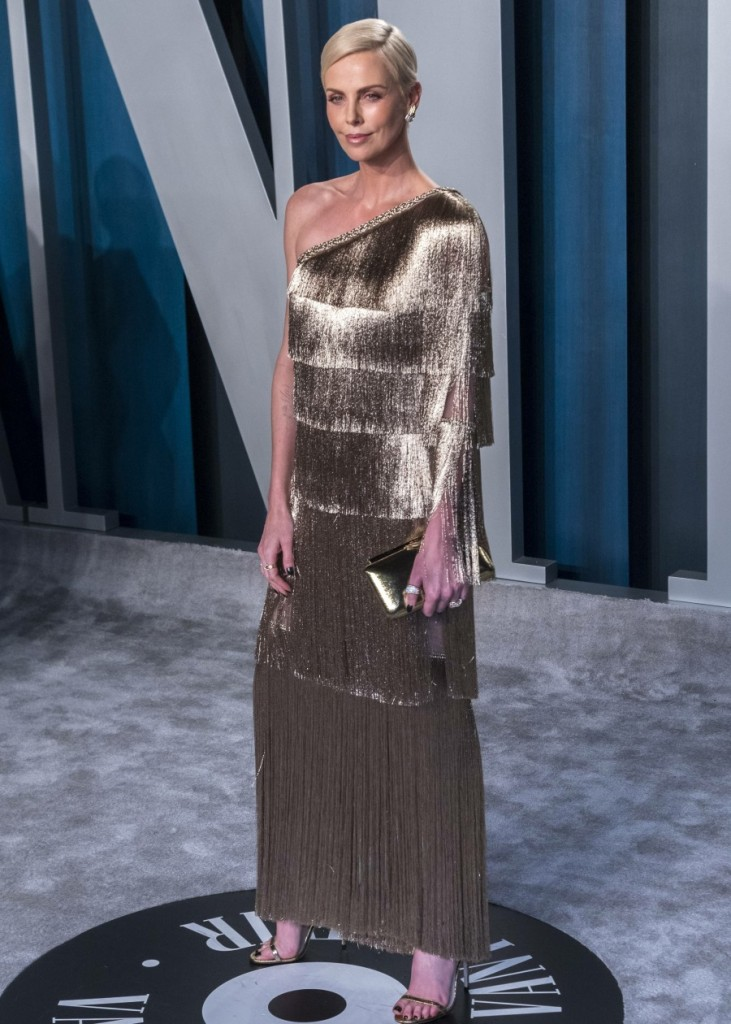 Charlize Theron attends the Vanity Fair Oscar Party at Wallis Annenberg Center for the Performing Ar...