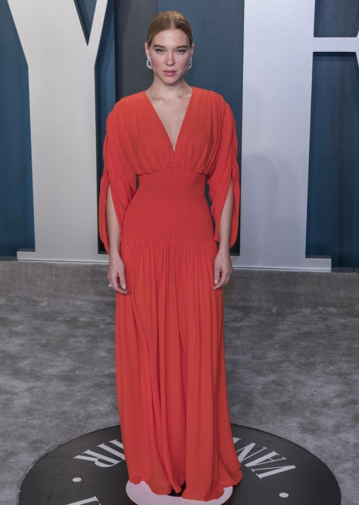 Lea Seydoux attends the Vanity Fair Oscar Party at Wallis Annenberg Center for the Performing Arts i...
