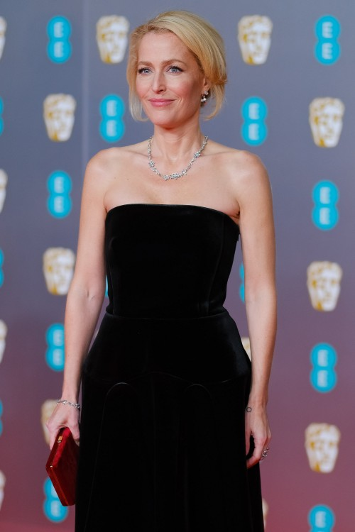 Gillian Anderson attends the 2020 EE British Academy Film Awards on Sunday 2 February 2020