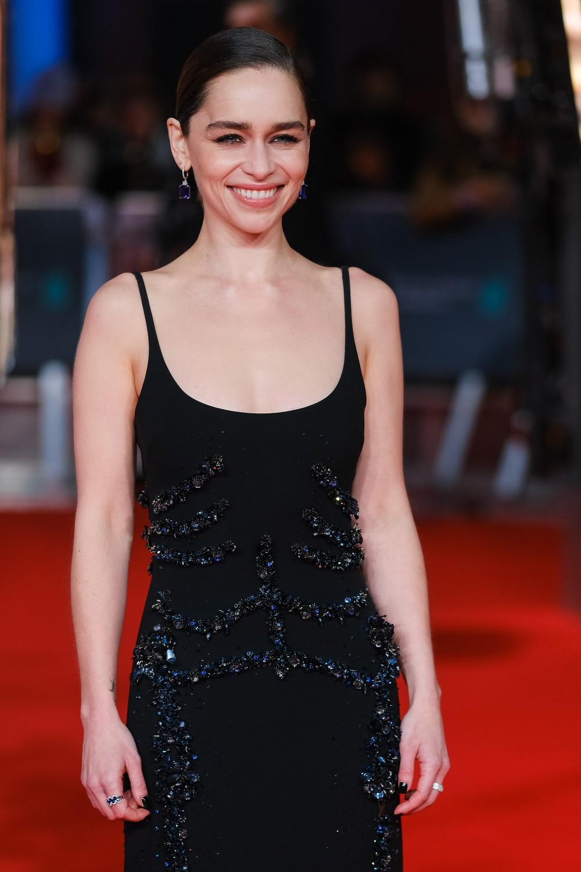 Emilia Clarke attends the 2020 EE British Academy Film Awards on Sunday 2 February 2020