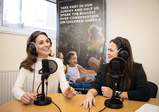 Duchess Kate did a podcast, part 1: Anyone who doesn't have mom guilt is lying!