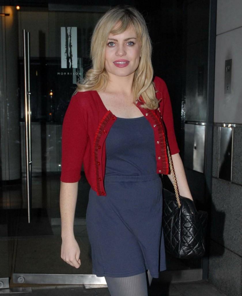 Welsh singer, Aimee Anne Duffy leaving her hotel