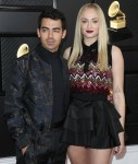 Joe Jonas and Sophie Turner arrive at the 62nd Annual GRAMMY Awards held at Staples Center on January 26, 2020 in Los Angeles, California, United States.