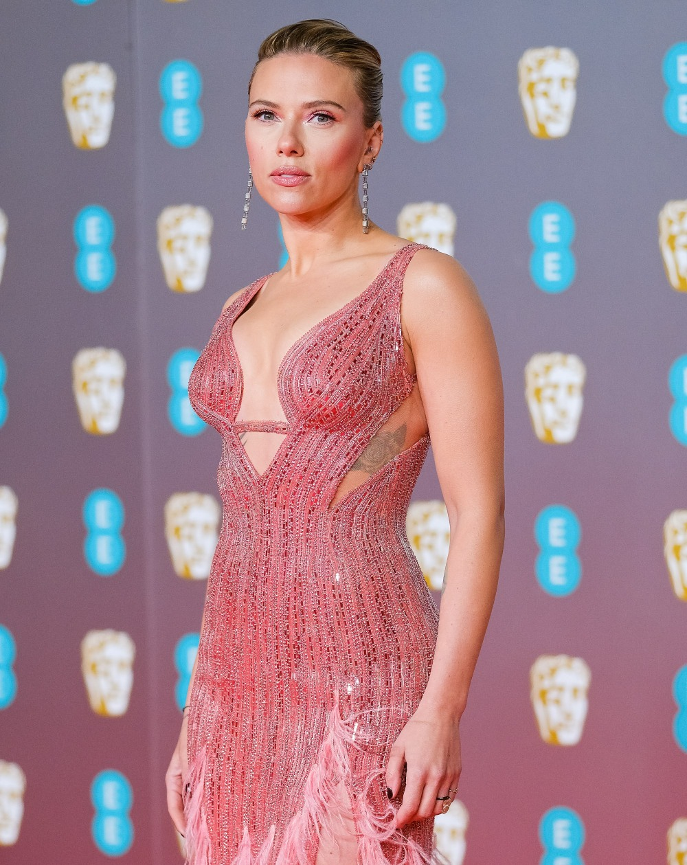 Scarlett Johansson attends the 2020 EE British Academy Film Awards on Sunday 2 February 2020