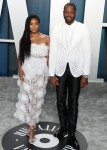 Gabrielle Union and Dwyane Wade arrive at the 2020 Vanity Fair Oscar Party held at the Wallis Annenb...