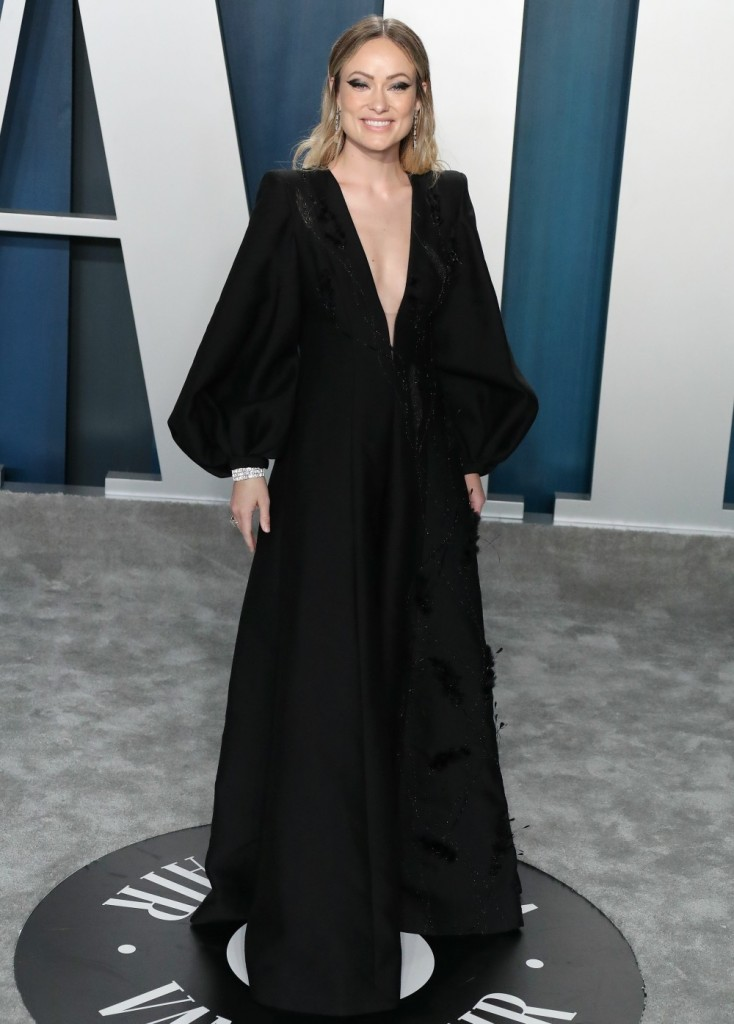 Olivia Wilde arrives at the 2020 Vanity Fair Oscar Party held at the Wallis Annenberg Center for the...