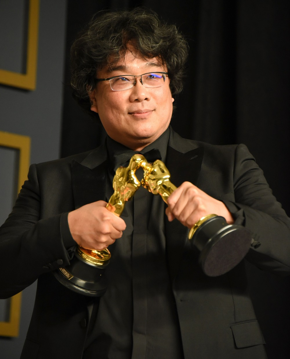 Bong Joon Ho in the press room during the 92nd Annual Academy Awards at Hollywood and Highland on Fe...