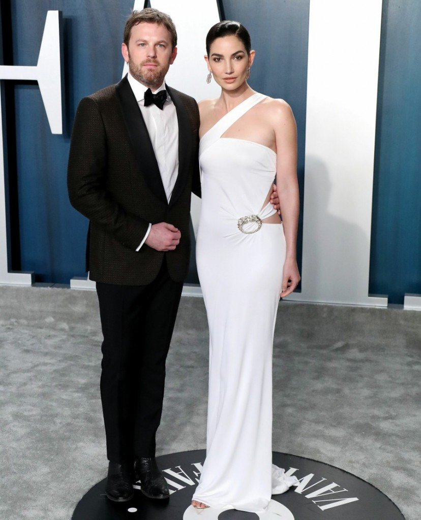 Caleb Followill and Lily Aldridge arrive at the 2020 Vanity Fair Oscar Party held at the Wallis Anne...