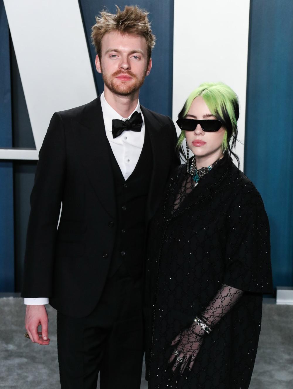 Finneas O'Connell and Billie Eilish arrive at the 2020 Vanity Fair Oscar Party held at the Wallis An...