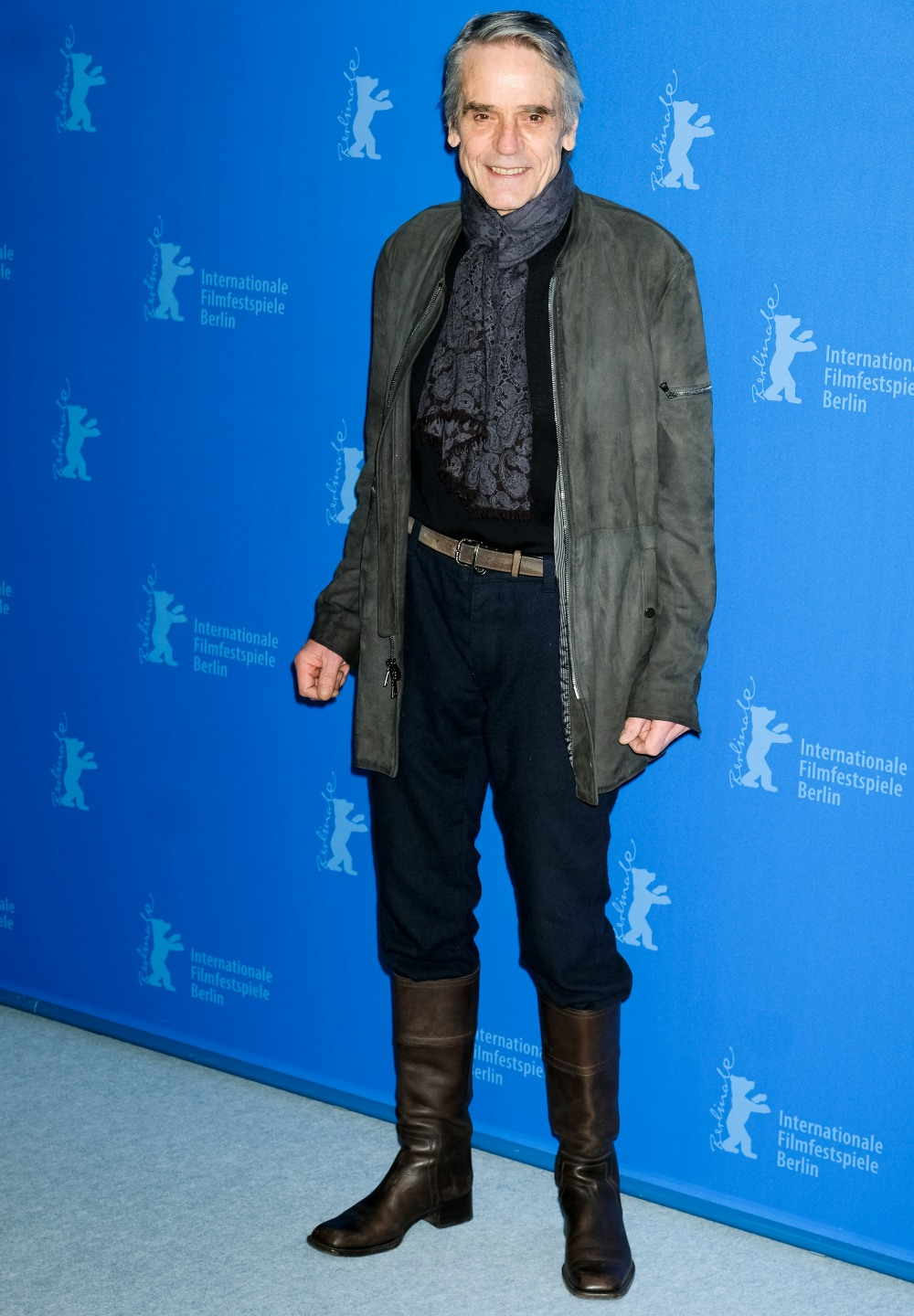 President of the Jury, Jeremy Irons poses at INTERNATIONALE JURY PHOTOCALL during the 70th Berlin International Film Festival ( Berlinale ) on Thursday 20 February 2020