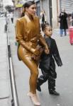 """Kim Kardashian, her daughter North West, Kourtney Kardashian and her daughter Penelope Disick go to the """"Sunday Service"""" of Kanye West in Paris"""