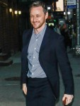 James McAvoy arrives to promote 'Glass' at The Late Show With Stephen Colbert