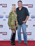 Gwen Stefani and Blake Shelton arrive at the Los Angeles premiere of Forrest Films' 'Bennett's War'