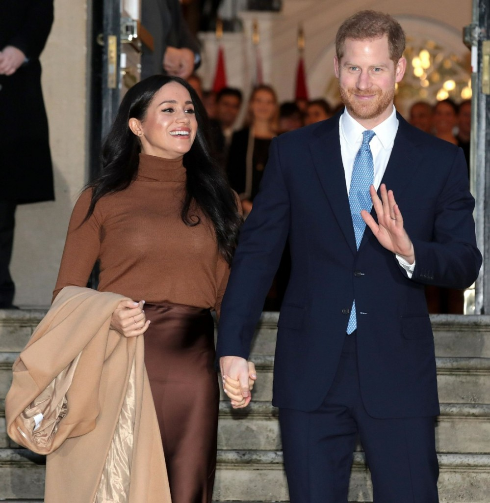 Prince Harry and Meghan Duchess of Sussex visit Canada House in London