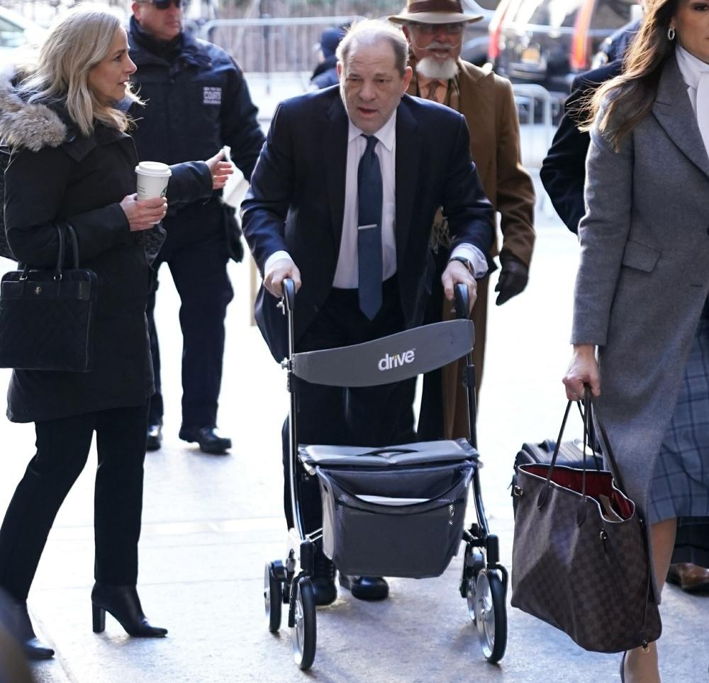 Harvey Weinstein at Manhattan Criminal Court in New York City