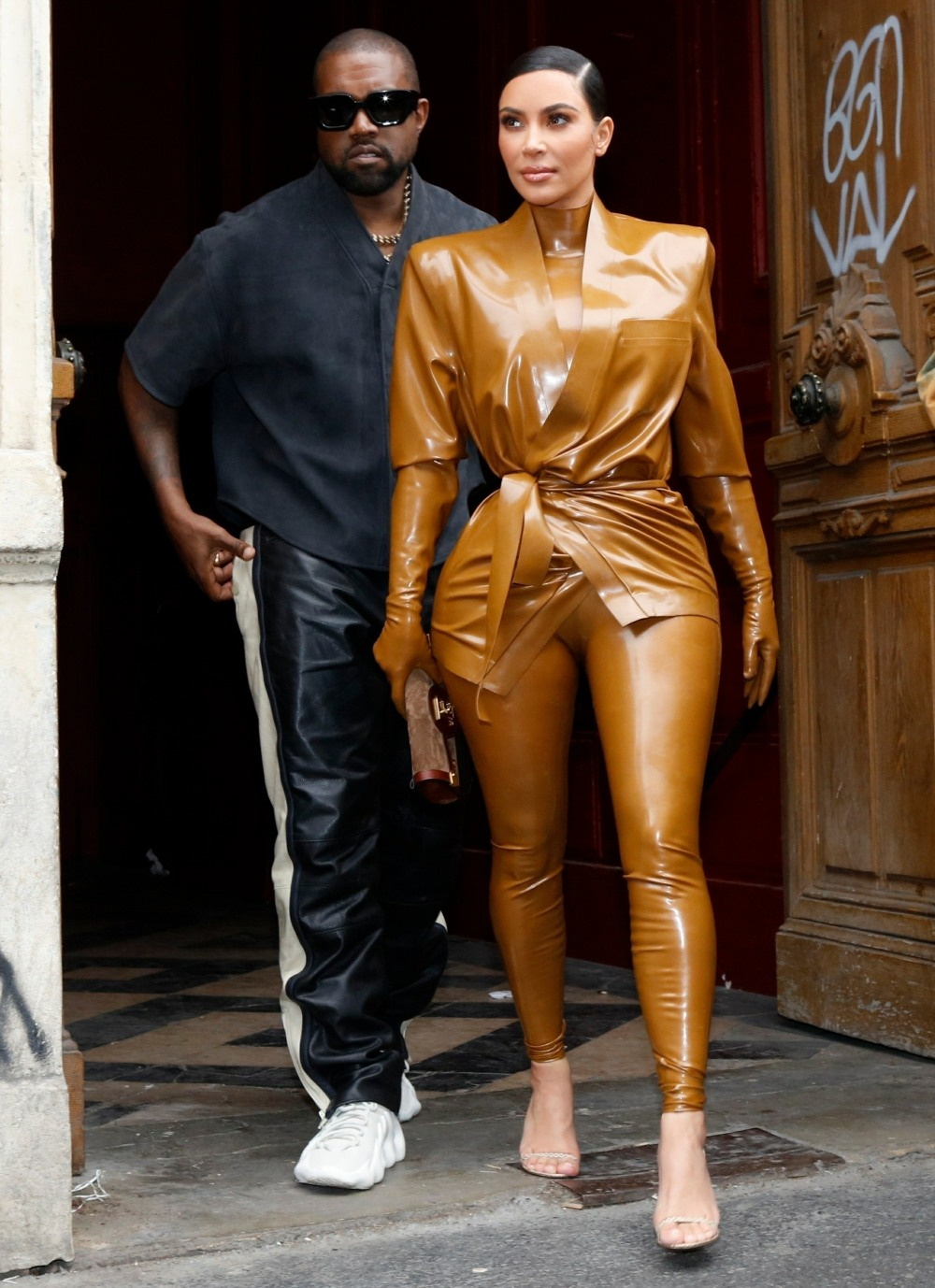 Kanye West, Kim Kardashian, their daughter North West, and family attend Kanye's 'Sunday Service' in Paris
