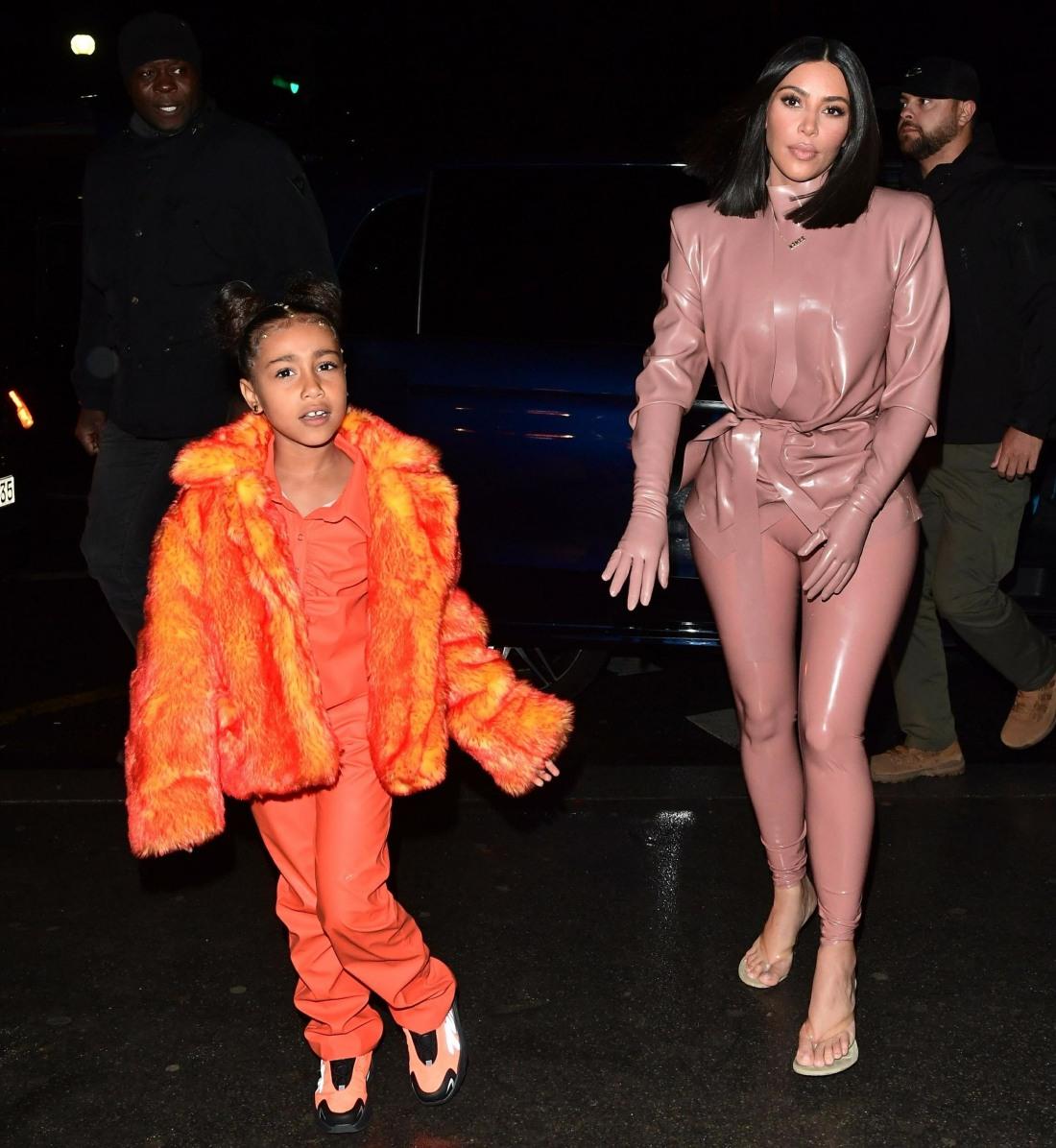 Kanye West, Kim Kardashian and Kourtney Kardashian take their kids to the Eiffel Tower
