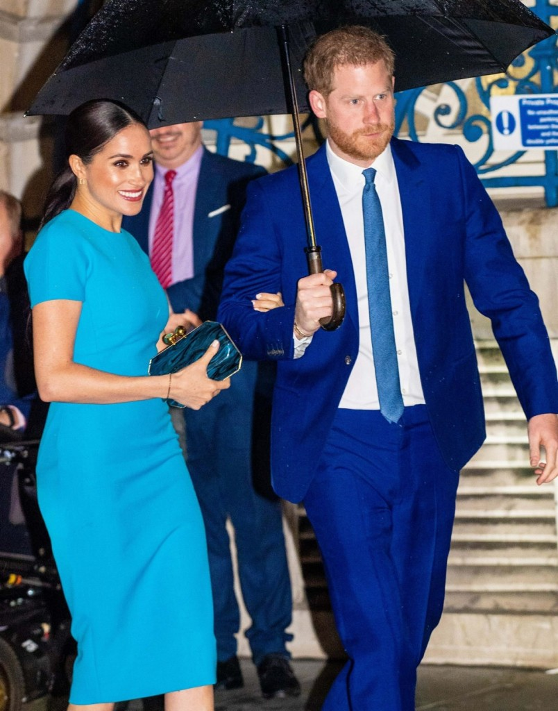 Beaming Meghan Markle makes her first public appearance in the UK since Megxit