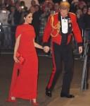 Il duca e la duchessa del Sussex sono raffigurati durante il loro arrivo al Festival musicale di Mountbatten