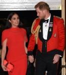 Il principe Harry e Meghan Markle sono visti al Festival della musica di Mountbatten