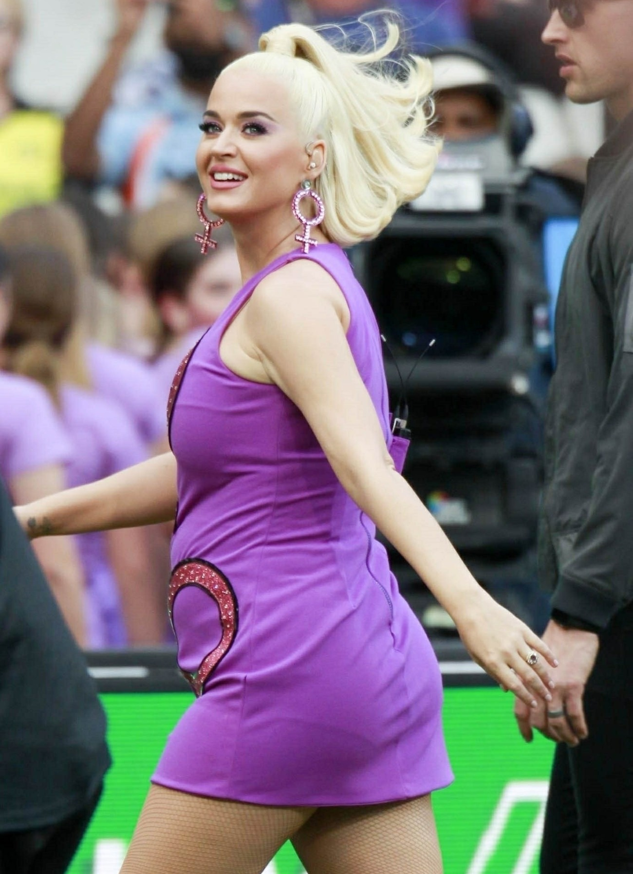 Katy Perry shows off her baby bump at the ICC Women's T20 Cricket World Cup Final in Melbourne!