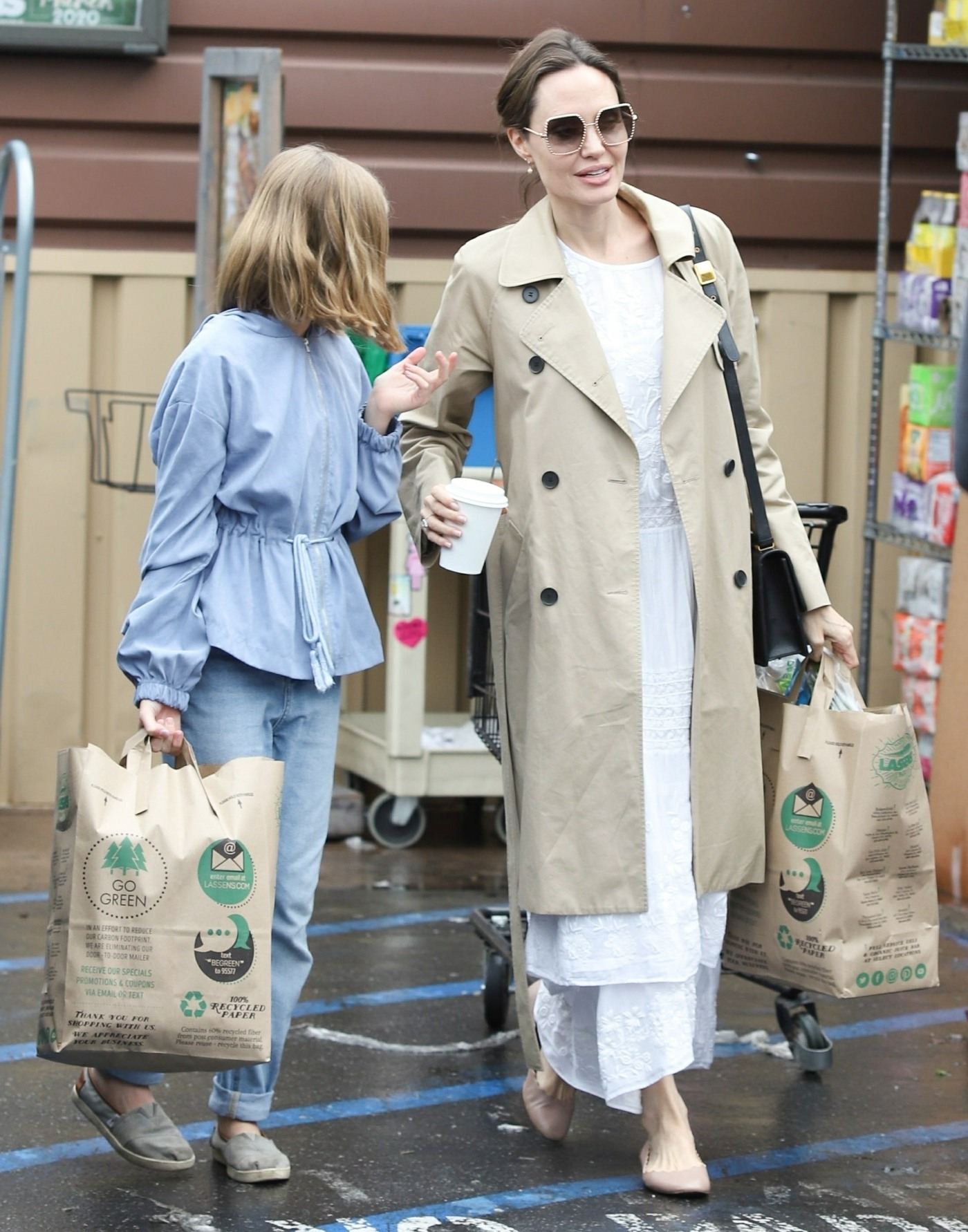 Angelina Jolie goes shopping at Lassens amid coronavirus pandemic