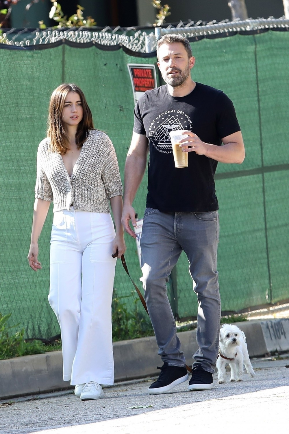 Ben Affleck is seen out for a morning stroll with his new girlfriend Ana de Armas