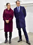 Crown Princess Victoria and Prince Daniel during the visit to the military field hospital raised for Coronavirus patients