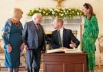Il principe William, la duchessa Catherine, incontro con Michael Higgins durante la visita ufficiale in Irlanda