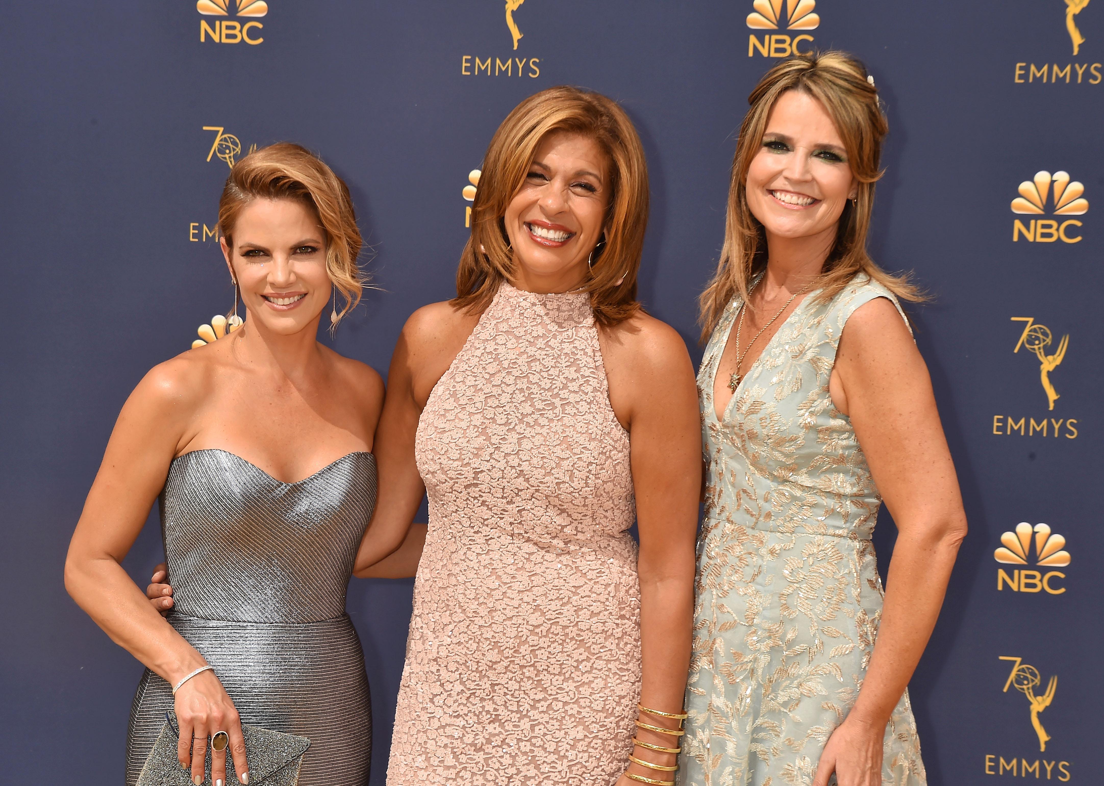 Natalie Morales, Hoda Kotb, Savannah Guthrie at the 70th Emmy Awards in Los Angeles