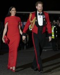 The Duke and Duchess of Sussex arrive at the Albert Hall for the 