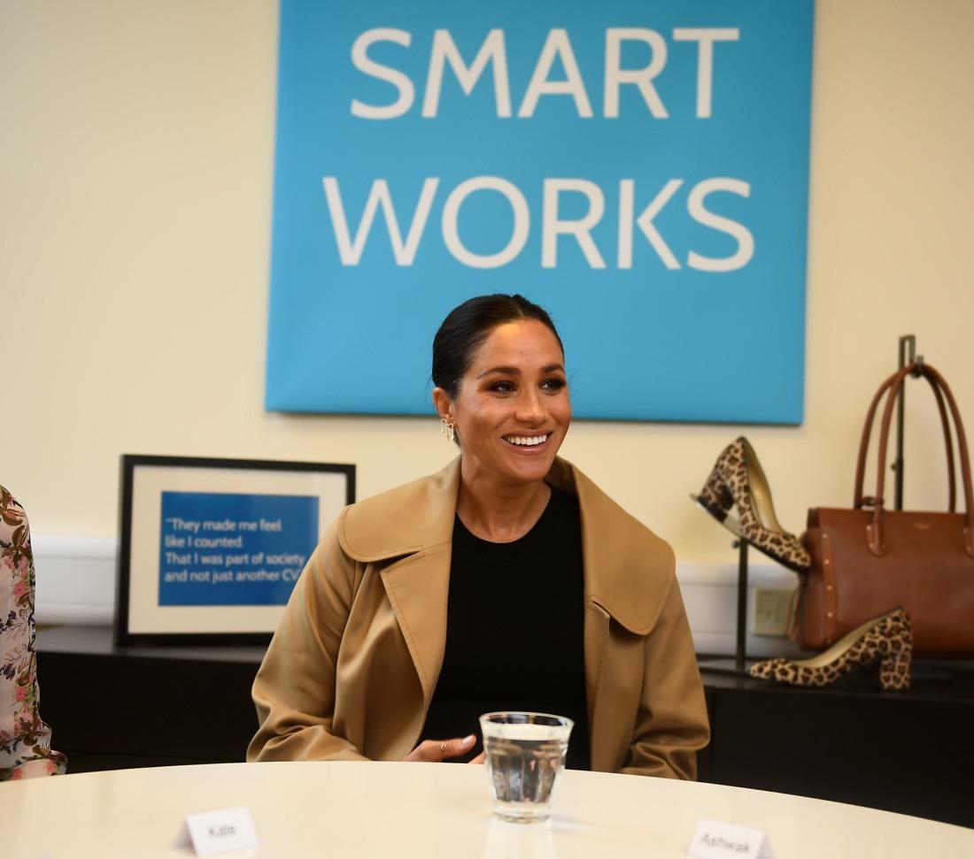 Meghan, la duchessa del Sussex, visita la carità di Smart Works nella zona ovest di Londra